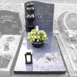 Grafstenen van graniet