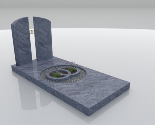 Grafsteen Bant in Orion Blue graniet