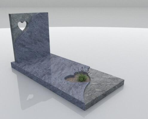 Grafsteen Emmeloord Orion Blue graniet