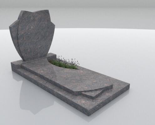Grafsteen Espel in Himalaya graniet