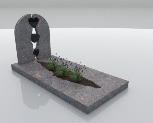 Grafsteen Kraggenburg in Himalaya en Zwart graniet