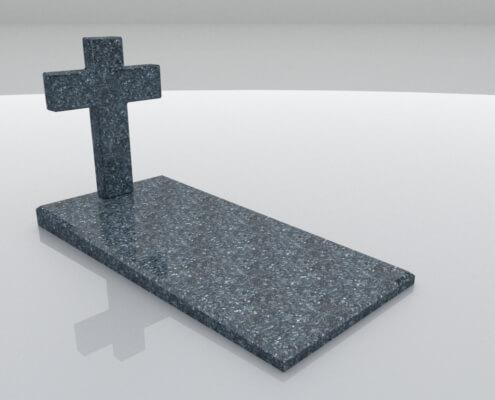 Grafsteen Nagele in Labrador Blue graniet