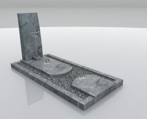 Grafsteen Urk in Wiscount White graniet