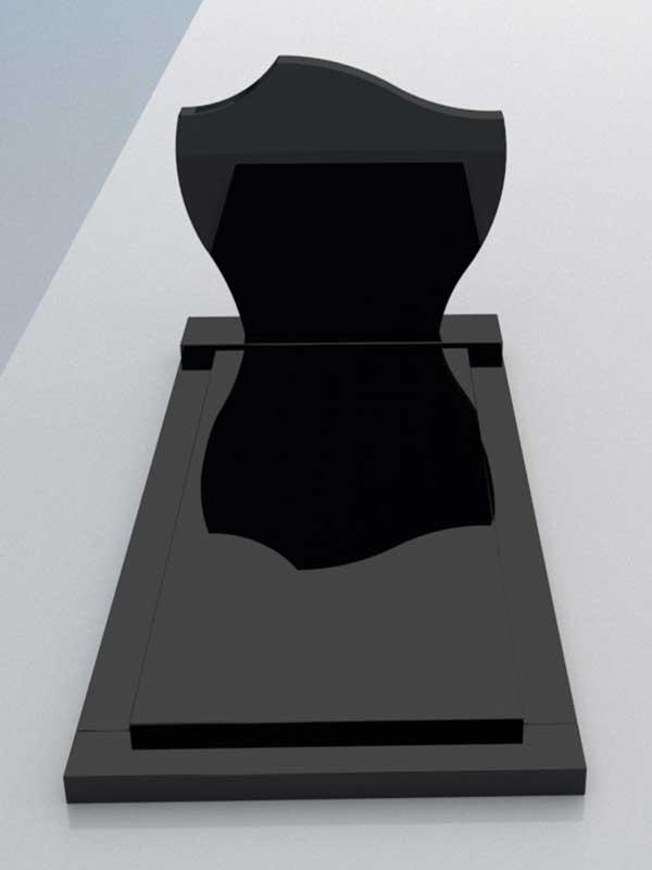 Aanbieding grafsteen Zwart graniet