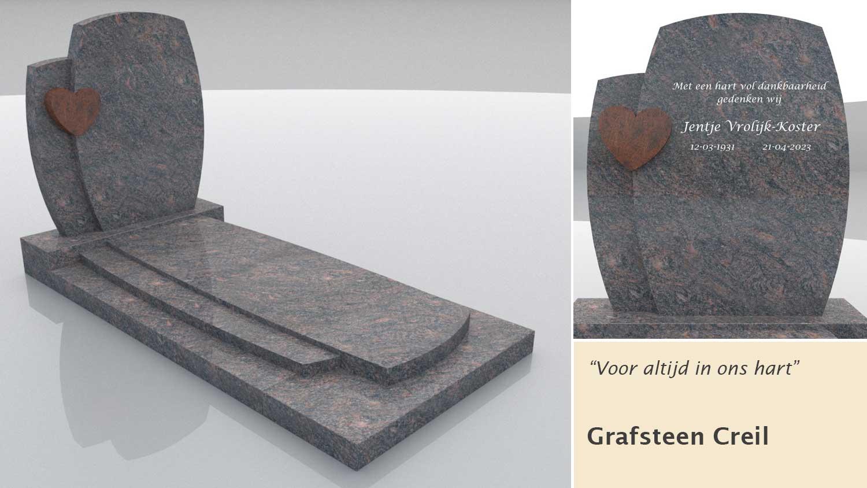 Grafsteen model Creil in Himalaya graniet