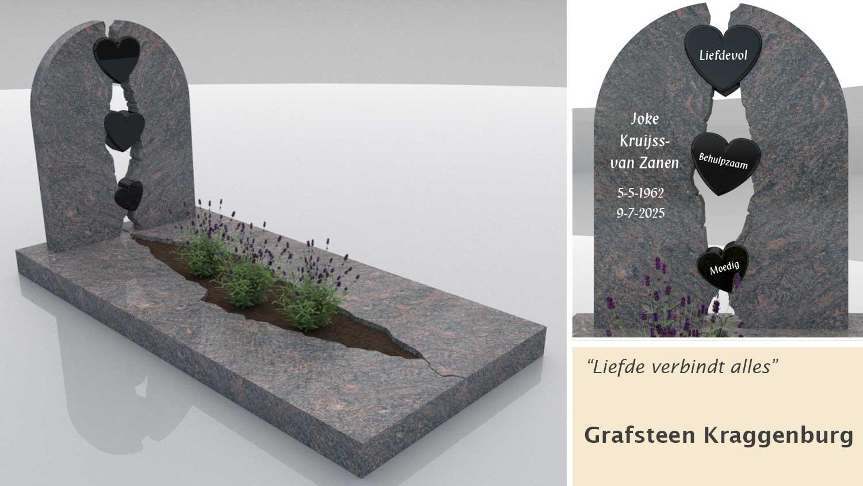 Grafsteen Kraggenburg in Himalaya graniet