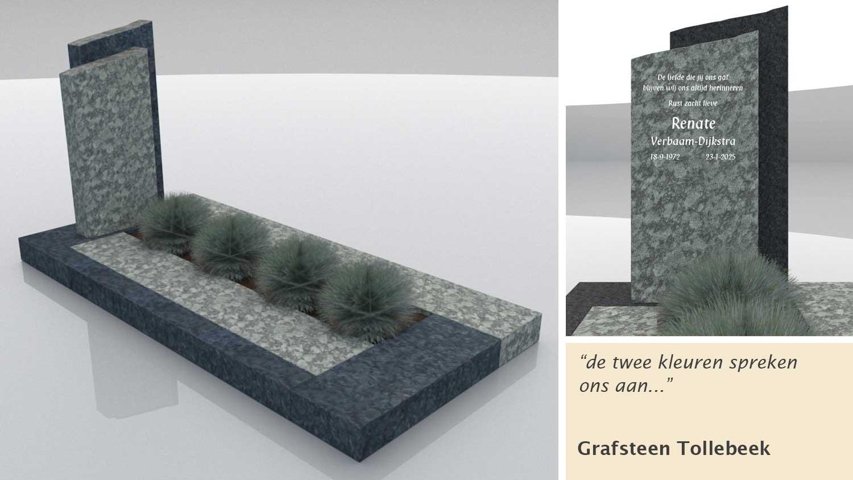 Grafsteen Tollebeek in Olive Green en Matrix