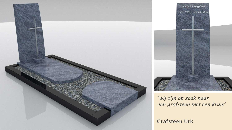 Grafsteen Urk in Orion en Zwart graniet