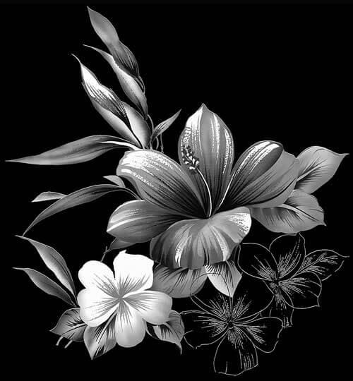 Gravure bloemen