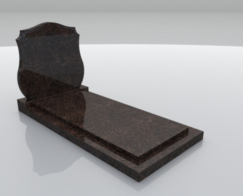Grafsteen Eemdijk in Dakota graniet