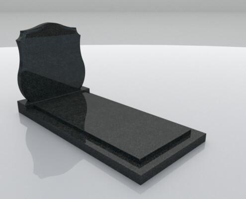 Grafsteen Eemdijk in Royal Impala graniet