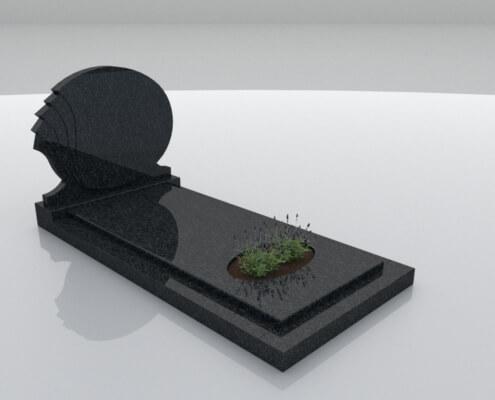 Grafsteen Halfweg Regal Black