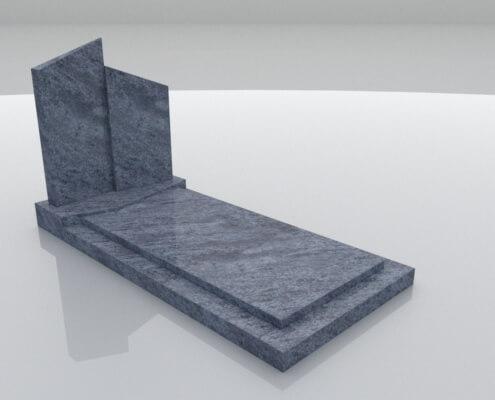 Grafsteen Weesp in Orion Blue graniet
