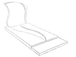 Schets van een grafsteen