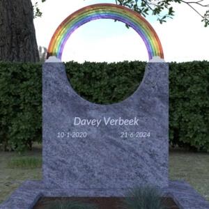 Kindermonument regenboog glas